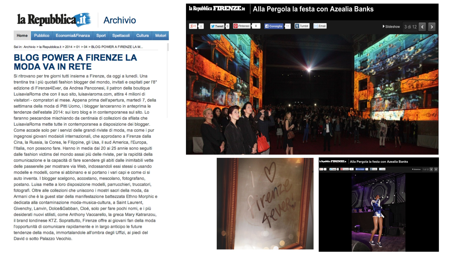 FIRENZE4EVER videomapping