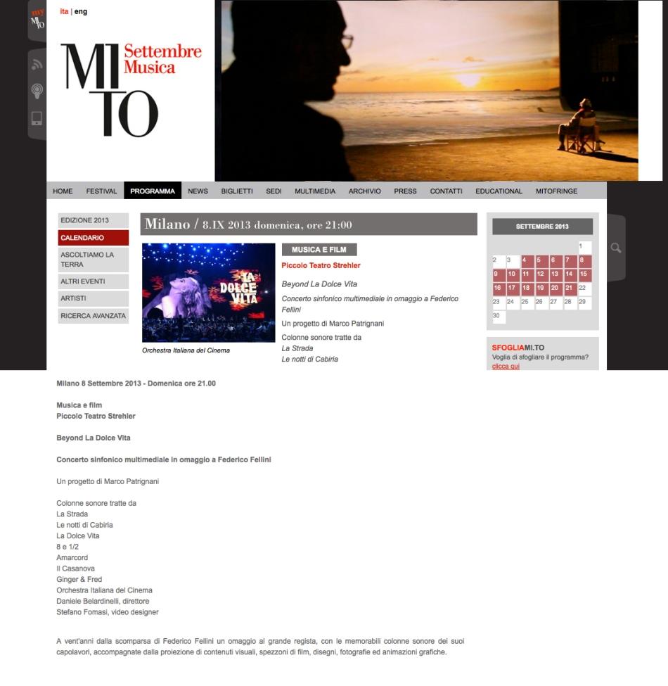 MITO SETTEMBRE MUSICA FEDERICO FELLINI