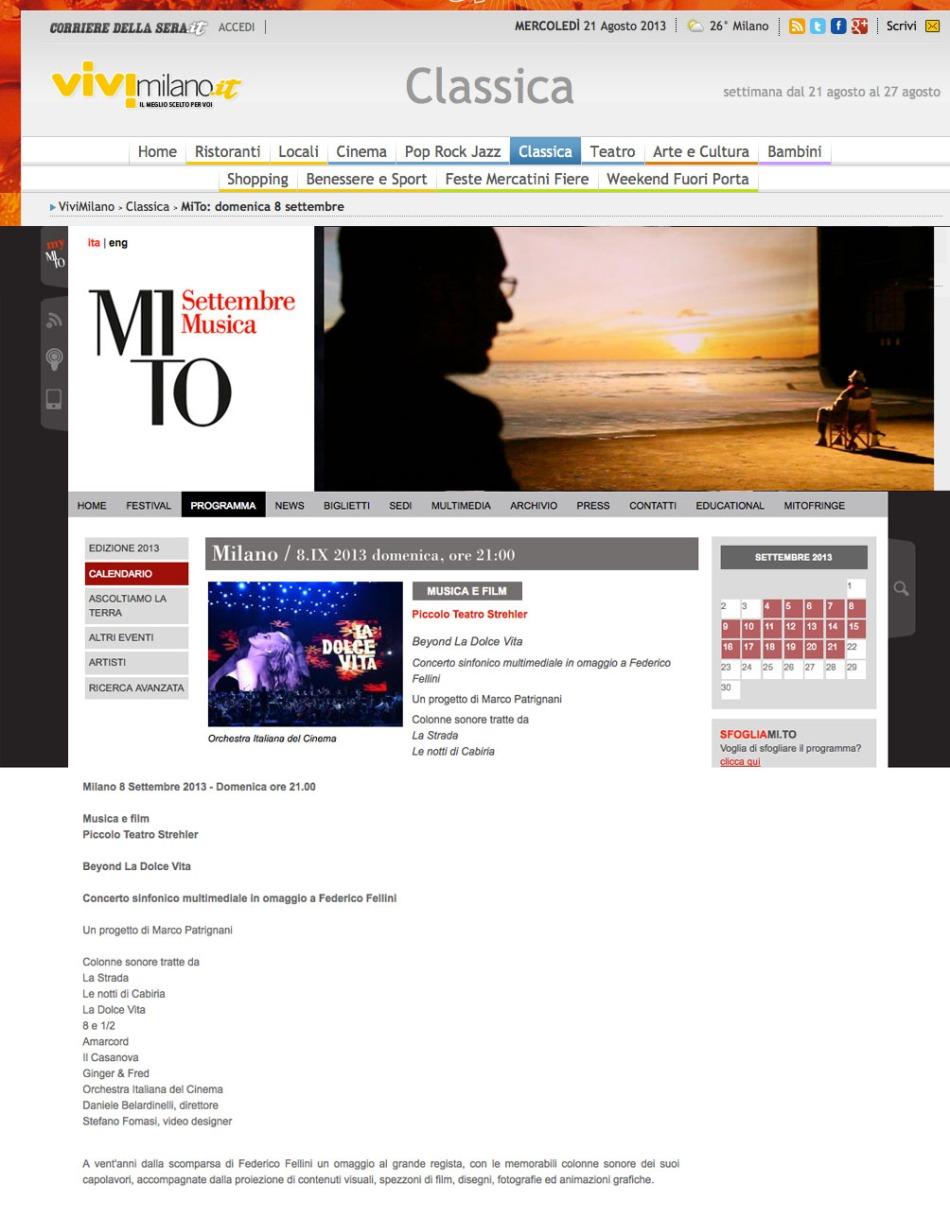 MITO SETTEMBRE MUSICA PICCOLO TEATRO FEDERICO FELLINI