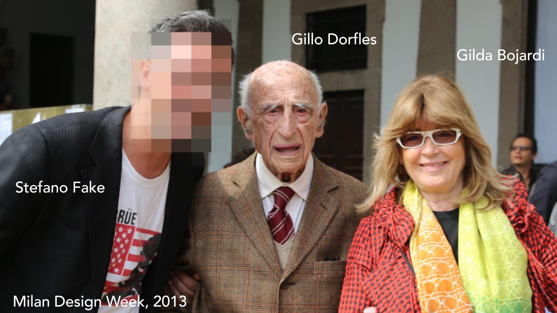 GILLO DORFLES + FAKE + BOIARDI - FUORISALONE MILANO