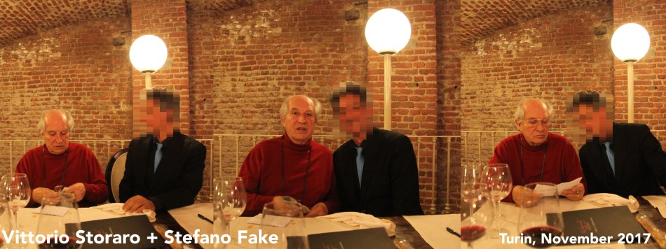 VITTORIO STORARO + STEFANO FAKE - 2017